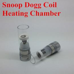 Chambre de cire d'herbe sèche à vendre-510 710 Snoop Dogg atomiseurs bobine reconstructible Chambre chauffage avec tube de verre sec Herb Wax vaporisateurs vapeur stylo remplacement de base
