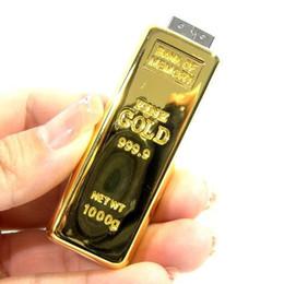 Wholesale -16GB 32GB Gold bar usb flash 2.0 usb Flash drive Memory card Pen Drive Drives Sticks Disks Pendrives Thumbdrive