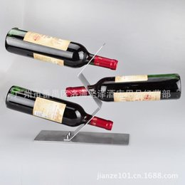 [three balance wine rack] stainless steel wine rack European gravity wine rack creative hanging wine rack