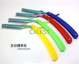 Wholesale Professional Thinning Knife Hair Cutting Plastic Handle Barber Hair Styling Razor Blade Holder