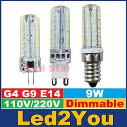 2017 ampoule g9 conduit Peut être obscurci G9 Led Ampoules 9W E14 G4 LED Spots Lampe 72LEDs SMD 3014 haute luminosité AC 110-240V ampoule g9 conduit promotion