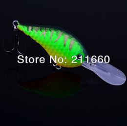 Wholesale New Design Golf Ball Dimple Crank lures Green Color Fishaing Lures cm g fishing tackle Retail box package Free Ship