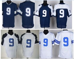 Wholesale men s Cowboys romo Blue Elite discount american football jersey Embroidery Name and Logo Allow Mix Order