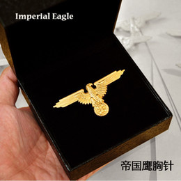 Wholesale Military Supplies World War Ii German Iron Cross Medal Imperial Eagle Of The Empire Badge Silver And Gold Brooch Pin Armband