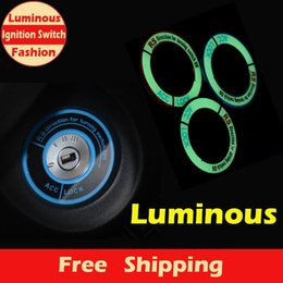 Wholesale A012 Fashion New Luminous Ignition Switch Cover for HONDA City Civic Ciimo Accord Fit CR V Car Interior Accessories