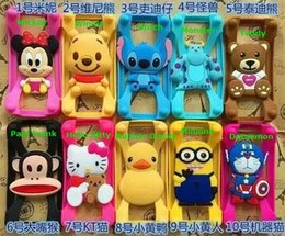 Wholesale 3000Pcs Universal Silicone Bumper Frame Cartoon Character Case Mickey Bear Stitch Monster Doll for iPhone s Samsung s6 HTC LG Sony Nokia