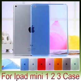 Wholesale Crystal Clear Ipad Air Case - 100pcs Lot free shipping Crystal Clear Transparent TPU Silicone Rubber Skin Gel Case for apple ipad Air2 Air 2 ipad mini 1 2 3
