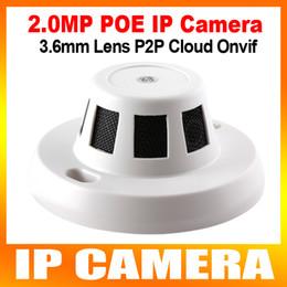 2017 dôme intérieur caméras ip 1080P HD 2.0MP fumée Caméra IP style Detector Avec POE Mini Invisible Web Camera Dome intérieure Soutien iPhone Android Phone Parcourir ONVIF P2P dôme intérieur caméras ip offres