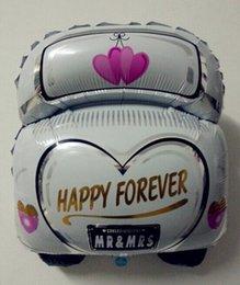 Wholesale 100pcs The new cartoon wedding car aluminum balloons decorated wedding wedding party balloon toy