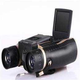 Wholesale Full HD P Video Camera Multi Functional Telescope Long Distance Digital Spy Binocular Camera quot LCD Telescope with Camcorders FS608