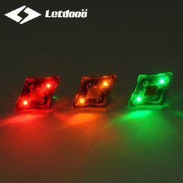 LETDOOO Bicycle Diamond-Shaped Waterproof Warning Lamp Cycling Front Light Bike Rear Lights Bicycle Wheel Spokes Lamps With USB