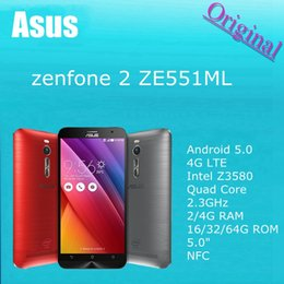 Wholesale 100 Original ASUS ZenFone ZE551ML Android G LTE Intel Z3580 Quad Core GHz GB RAM GB ROM quot NFC Mobile Cell Phones