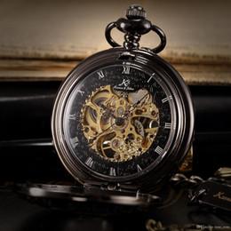 Wholesale Retro KS Auto Mechanical Self Wind Skeleton Alloy Case Copper Key Style Pendant Roman Dial Luxury Case Pocket Watch Men KSP044