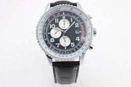 Luxury Brand New Black Dial Black Leather Belt Mens AAA silver Dezel Watch Men's Sports Wrist Watchesver