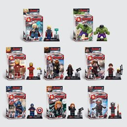 Wholesale New SY271 Iron Man Avenger Super Hero Black Widow Eagle Eye Minifigure Action Figure Toy Compatible with lego
