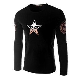 Wholesale brand men s small star hemp leaf printed fleece add wool coat collar fleece in the fall and winter of men M91LB1606
