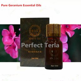 Wholesale 100 Natural Pure Geranium Essential Oil Aromatic Antidepressant Antibacterial Aromatherapy SPA Massage Oils OEM ODM Accept