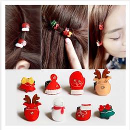 20PCS / girl bobby cheveux fabricants coiffure bonhomme de neige arbre de Noël cerf Mini ronde garniture grip épingle coiffure round hair clips deals à partir de pinces à cheveux ronds fournisseurs