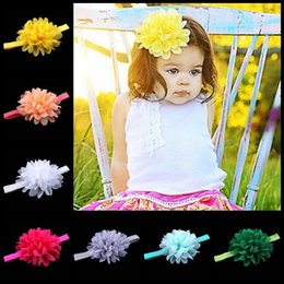 New Style Baby Supply POP in Europe and America Chiffon Headband Hair Accessories for children 16 colors Hairband