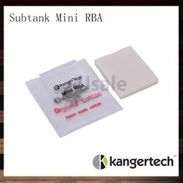 Kangertech Subtank Mini RBA OCC Coils Japanese Organic Cotton Replacement For Kanger Subtank Plus Subtank Mini Subtank Nano 100% Original