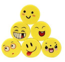 Wholesale hot sale economic material benefit bag Stationery smiley eraser fun eraser single