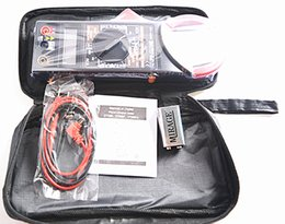 Wholesale 50PCS HOT SELLING AC DC DIGITAL CLAMP Multimeter measure Current Voltage Resistance Capacitance Electronic Meter with battery carry bag