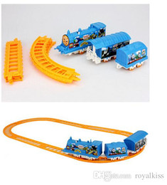 Wholesale Small electric rail train toys Train Railway Train Play Set battery operated Toys Gifts free DHL