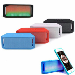Wholesale Best Price Mini LED Bluetooth Speaker Wireless BASS Portable For iPhone For Samsung Tablet PC Black Red Blue White ML U