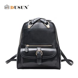 2015 New Genuine Leather backpack women korean mochila feminina Preppy Style Women brand leather Backpack hiking Shoulder Bags
