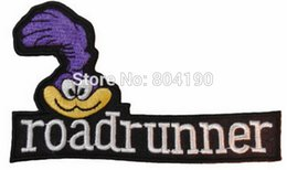 Wholesale 4 quot Looney Tunes ROADRUNNER Face Uniform Logo Animated Movie TV Series Costume Cosplay Embroidered Emblem applique iron on sew on patch