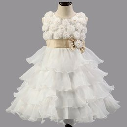 Wholesale Children Flower Girl Dresses for Weddings High grade Baby Clothes for Girl White Red Purple Pink color Party Performance Clothing to