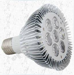 Dimmable 21W  7x3W E27 Par30 LED Bulb lamp 85-265V Warm White white LED spot light, Par 30 E27 led lighting