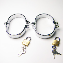 Female & male ankle cuffs Alloy simulation toys,Bondage sex slaves,SM Sextoys with 2 lock