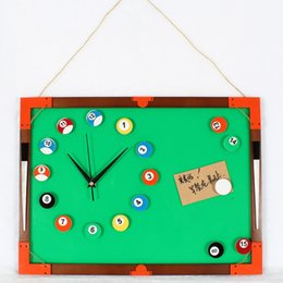 Wholesale Message Board Blackboard DIY clock wall clock billiards snooker clock creative fashion personality mute in stock