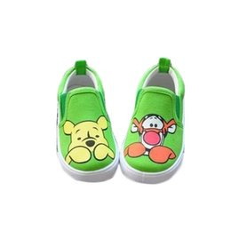 Spring Autumn children canvas shoes bear boys shoes girls cartoon toddler shoes kids sneakers
