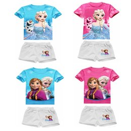 New baby Girls clothing set Kid Short Sleeve T-shirt TOP Pants 2 pcs sets for 2-8 years children clothing