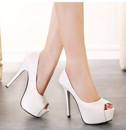 New 2016 sexy thin heel peep toe platform pumps red bottom high heel shoes office lady profession work