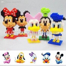 Wholesale Kawaii Big Head Girl Duck BOYU diamond nano plastic building blocks bricks cartoon educational toy