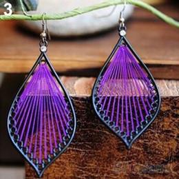 Wholesale Chandelier Thread - 2016 New Hot omen Fashion Cute Handcraft Thread Dangle Earrings Jewelry for women 08DU