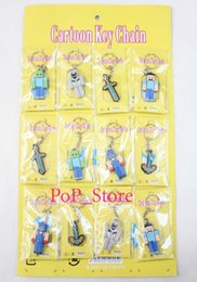 Wholesale New arrive sheet Fashion popular Minecraft Double sided PVC keychain Metal Key Ring Party Gifts