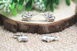 Wholesale 25pcs Whale Charms Fish Charms Antique tibetan silver Baby Carriage Charms Pendants x10mm