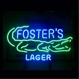 Wholesale FOSTERS AUSTRALIAN LAGER HANDICRAFT NEON SIGN REAL GLASS TUBE LIGHT BEER BAR PUB STORE x11 quot