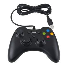 Compra Online Joystick usb-USB Wire Game controlador Xbox 360 gamepad negro PC XBOX360 Joypad Joystick Vlbration Ugame XBOX360 accesorio para ordenador portátil PC