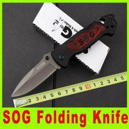 201412 SOG folding knife wooden handle EDC pocket knife outdoor rescue survival knives Function knives Survival collection knife knives 681X