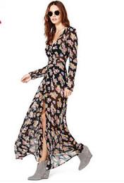 Hao duo yi fresh small floral chiffon dress single breasted shirt dress fashion printing Slim dress