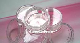Vente en gros-Free Shipping 80pcs/Lot Nail Art case vide à poudre poussière Glitter clair Pots bouteille contenant 3g 3 g/Jar clous outils à partir de ongles glitter pots fabricateur