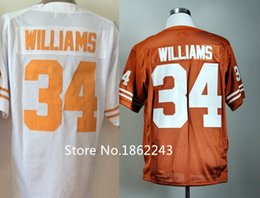 Factory Outlet- Cheap Men's #34 Ricky Williams Jersey Texas college Football Jersey Orange White Best Stitched 100% Polyester Shirts New Arr