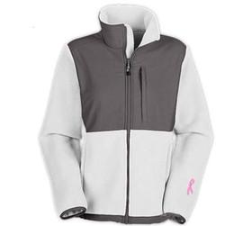 Wholesale Classic Pink Ribbon Women s Fleece Jackets Sport Outdoor Winter warm Mountaineering Sportswear Balck white outwear