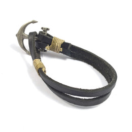 New fashion Men's vintage casual PUNK leather ropes bracelet Wristband