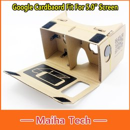 "For 5.0"" Screen DIY Google Cardboard Virtual Reality VR Mobile Phone 3D Viewing Glasses Google VR 3D Glasses"